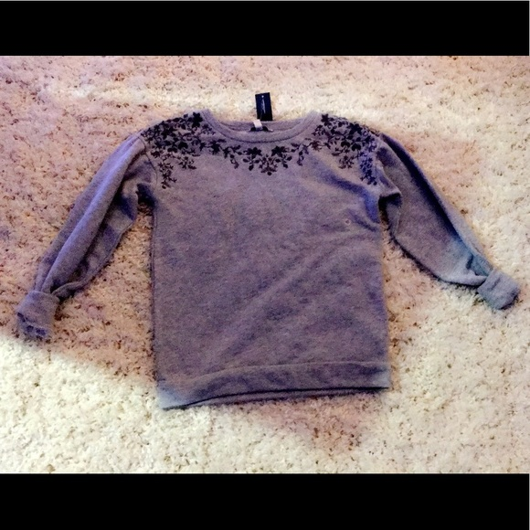 56% off American Eagle Outfitters Sweaters - Gray Crew Neck ...